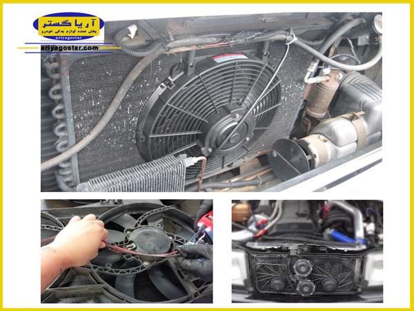 چه علائمی نشان دهنده خرابی موتور فن و در نتیجه پروانه خودرو است؟